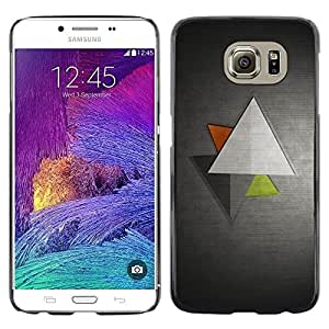 LECELL -- Funda protectora / Cubierta / Piel For Samsung Galaxy S6 SM-G920 -- Minimalist Triangles --