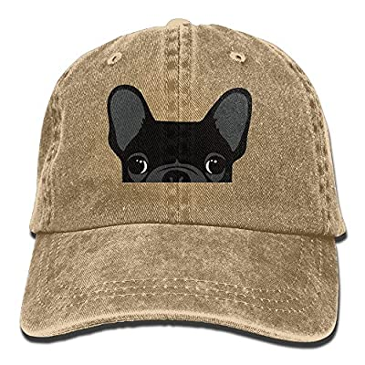 MNBHat Cute Black French Bulldog Adjustable Cotton Hat