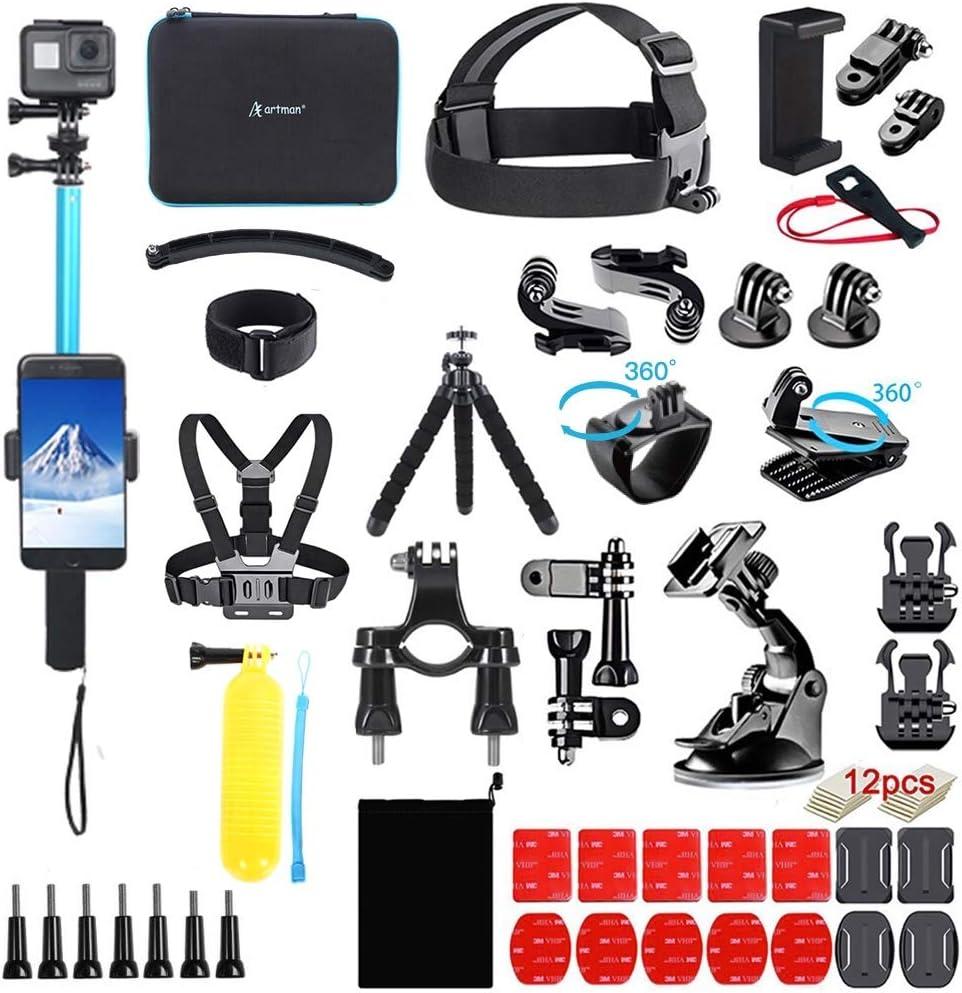 Homesuit Action Kamera Zubehör Kit 60 In 1 Für Gopro Kamera