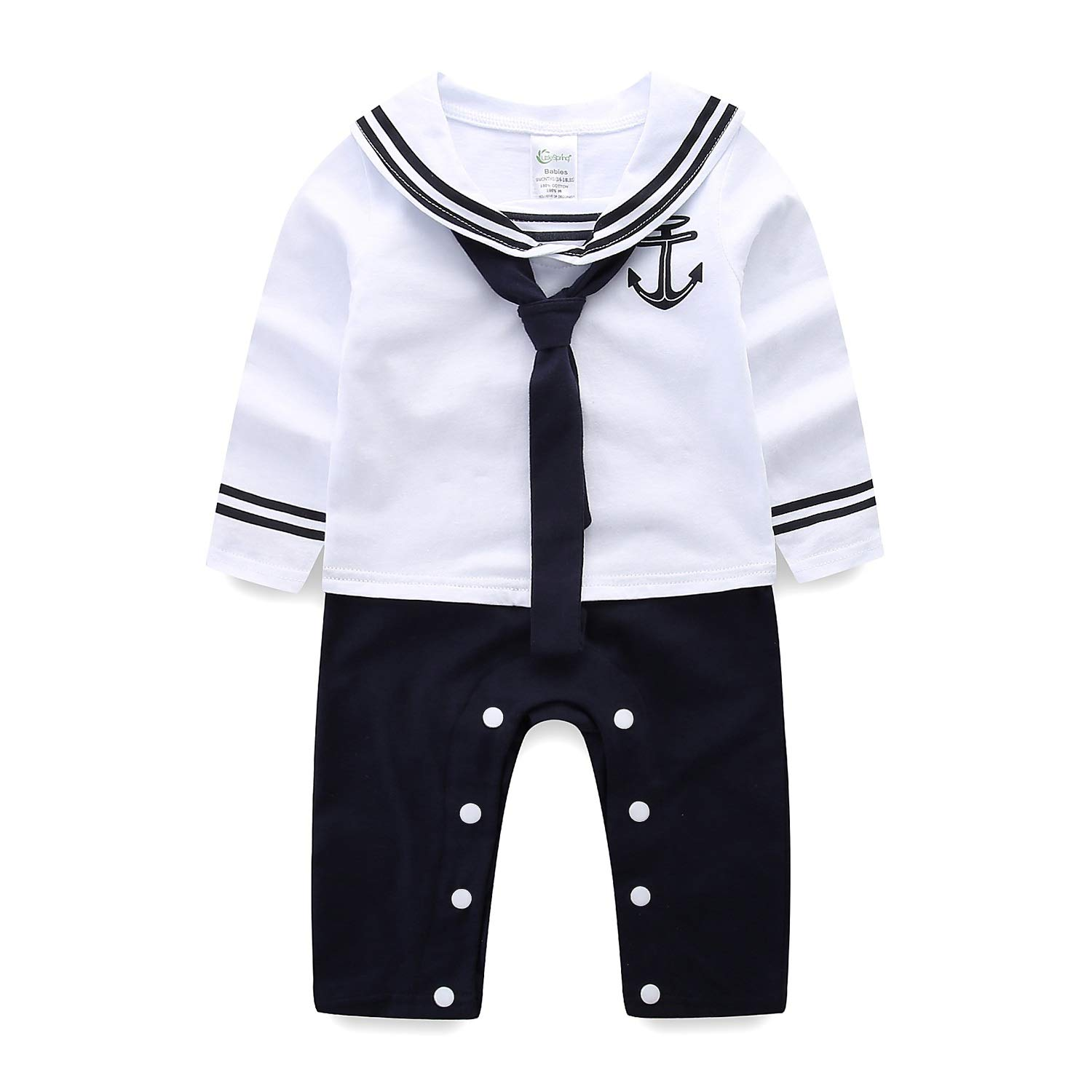 6e42efce971ff Amazon.com  Mud Kingdom Baby Boy Rompers with Hats Summer Sailor  Clothing