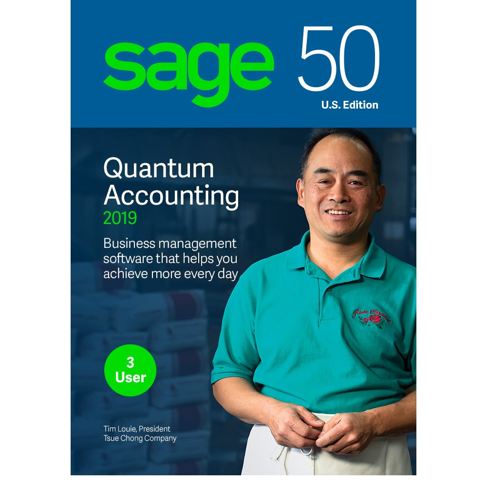 Sage 50 Quantum Accounting 2019 - Small Business Accounting Management Software - Payment and Inventory Management - Safe and Secure - Easy Integration with Microsoft Productivity Tools by Sage Software