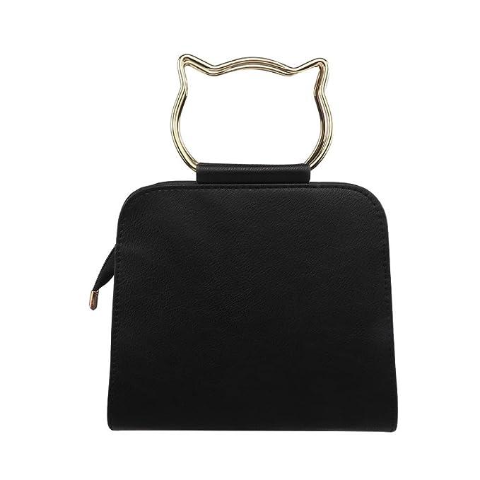 ac2aa30b325c Amazon.com  Sunyastor-bag 2018 New Trend Ladies Cat Handbag Shoulder  Diagonal Female Package Handbags Messenger Crossbody Bags for Girls  Circular Ring Cross ...