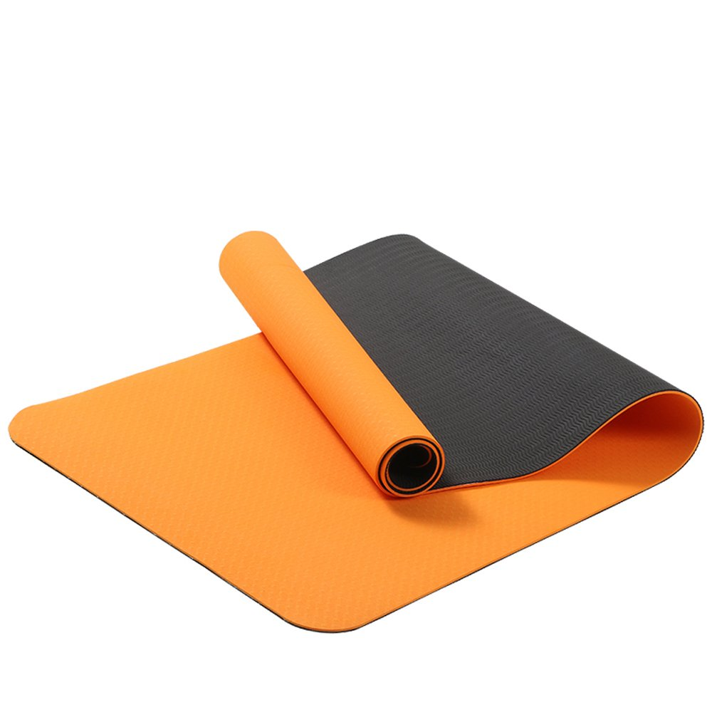 orange Tong Widened and Lengthened Beginners NonSlip Fitness Yoga Mat for Men and Women at The Same Time Fitness Plasticity (color   Dark Purple)