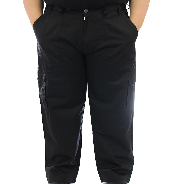ED BAXTER Victory - Heavy Duty Cargo Combat Trousers - Black: Amazon.co.uk:  Clothing