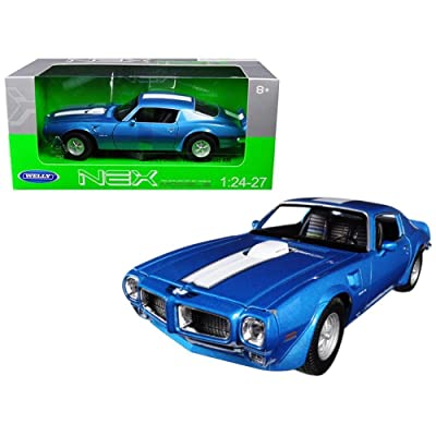 Welly New 1: 24 W/B Collection - Blue 1972 Pontiac Firebird Trans Am Diecast Model Car by: Toys & Games