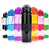 Grsta Sport Water Bottle, 400ml/500ml/700ml/1000ml,Bpa Free Eco-Friendly Tritan Plastic, Reusable Drinks Water Bottles with Filter, for Kids, Running, Gym,Camping, Outdoors