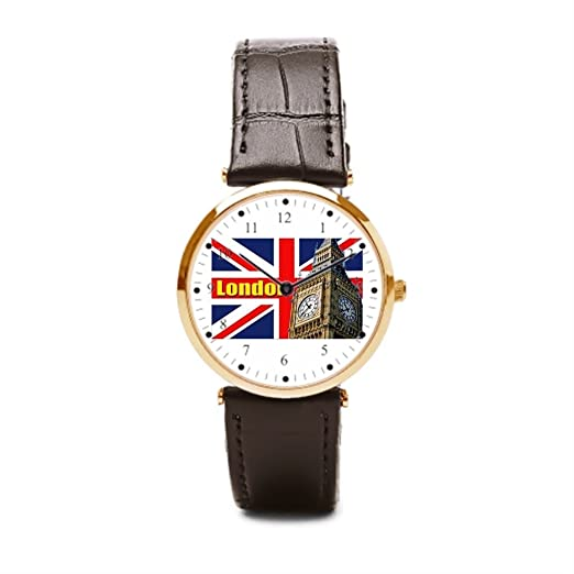 aromar Big Ben - Londres - Inglaterra (correa de piel reloj de pulsera marcas British Gi recuerdos barato Relojes de pulsera.: Amazon.es: Relojes