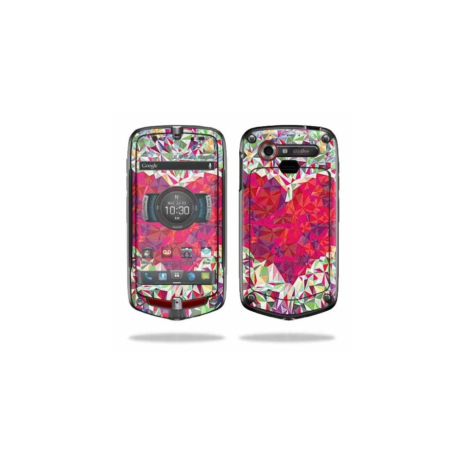 Mightyskins Protective Vinyl Skin Decal Cover for Casio GzOne Commando 4G LTE C811 GZ1 Verizon Cell Phone wrap sticker skins Stained Heart