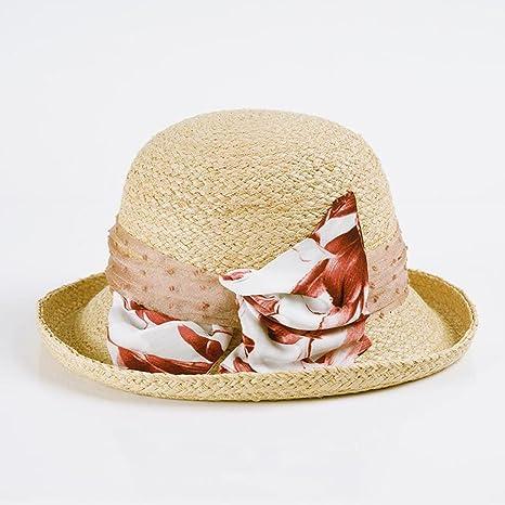 YXINY Viseras Sra. Protección Solar Visor Primavera Y Verano Elegante  Sombrero De Paja Rafi Curling 85f376d0e5d