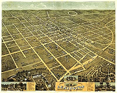 Lexington, Kentucky - Panoramic Map