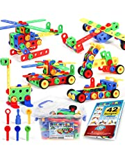 Building Blocks 101 Piece Stem Toys Kit, Educational Construction Engineering Building Blocks Learning Set For Ages 3 4 5 6 7 8 9 10 Year Old Boys & Girls Creative Games & Fun Activity