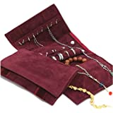 UnionPlus Small Jewelry Case Roll Bag for Necklace Bracelet Earrings, Jewelry Organizer Great for Travel