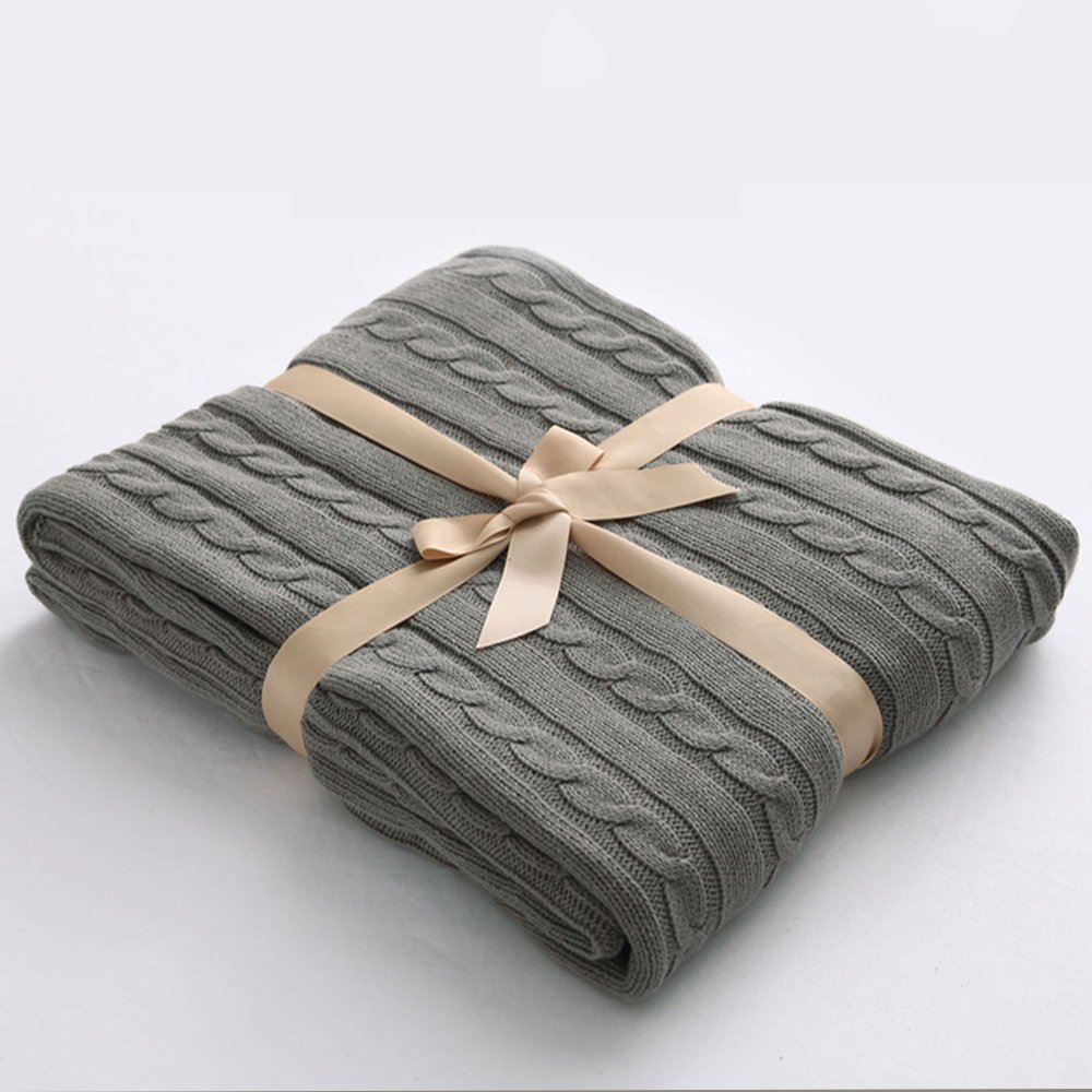 amazoncom ntbay  cotton cable knit throw blanket super soft