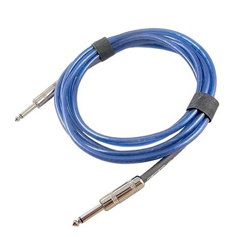 MagiDeal Cable de Conexión de Audio Jack de Guitarra 6.35mm Piezas de Bajo Guitarra Eléctrica