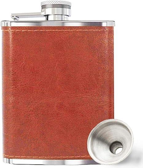 Vampire leather flask 8 oz.