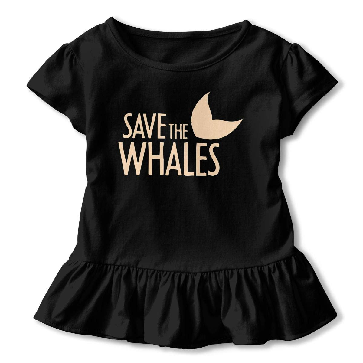 NMDJC CCQ Save The Whales Baby Skirts Fashion Kids T Shirt Dress Cotton Flounces Skort