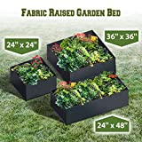 Strong Camel Fabric Raised Garden Bed Herb Flower Vegetable Plants Bed Rectangle Planter (24''x24'')