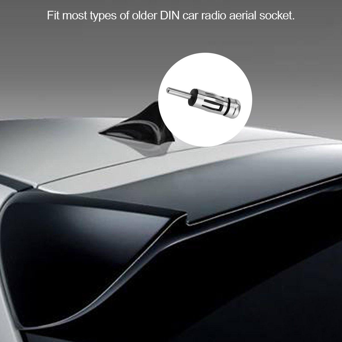 Sunsbell Auto Radio AM//FM maschio ISO Plug DIN aereo antenna spina delladattatore Connettori