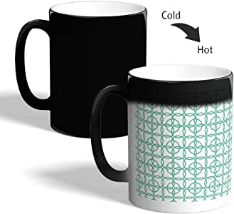 كوب القهوة السحري، بتصميم دوائر متداخلة ، اسود