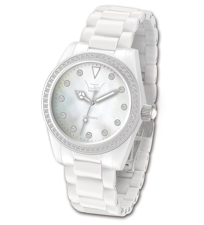 Ltd Watch Damen-Armbanduhr Ltd Analog Keramik weiß LTD-020623