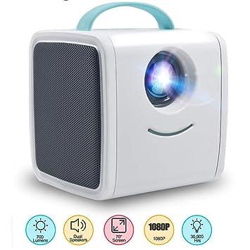 Amazon.com: QUARKJK Mini proyector 700 lúmenes niños ...