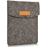 "ProCase 6 Inch Sleeve Case Bag, Portable Felt Carrying Pouch Protective Cover for 5-6"" Inch Tablet Smartphone E-Reader E-Book -Black"