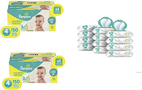 Pampers Sensitive Water Based Baby Diaper Wipes 12 Pop-Top 864 Count
