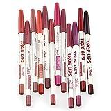 Sankuwen Waterproof Lip Liner Pencil, Pack of 12
