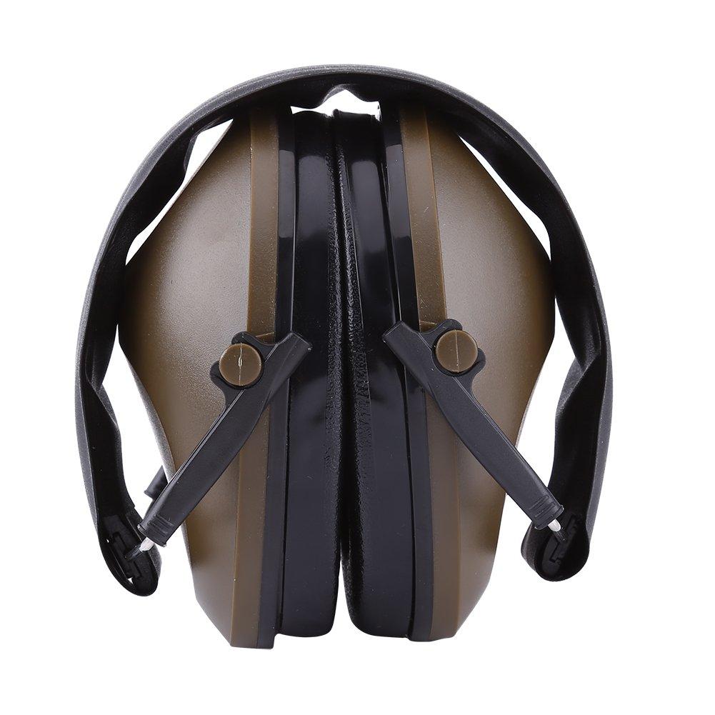 Casque Antibruit Insonorisées Serre-tête Pliable Cache-oreilles de Protection d'Oreilles contre Risques du Bruit pour Travail de l'industrie, Tir, Chasse(Noir) Walfront