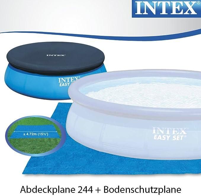 Intex 244 x 76 cm Easy Pool 281121 Juego completo incl. Bomba de filtro, escalera, a de y uplane: Amazon.es: Jardín