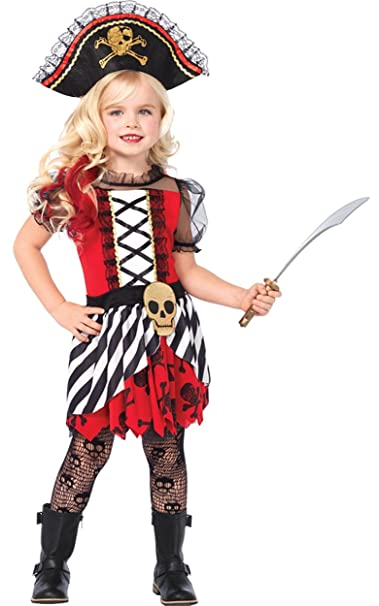 uhc girls rogue pirate outfit fancy dress child halloween costume child l 10