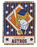 MLB Houston Astros 36-Inch-by-46-Inch Woven Jacquard Baby Throw