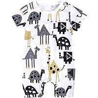 L'été Toddler Enfants Garçons Bébé Mignon De Bande Dessinée Romper Jumpsuit Outfit Vêtements Onesies Impression de Girafe de Dessin animé Combinaison