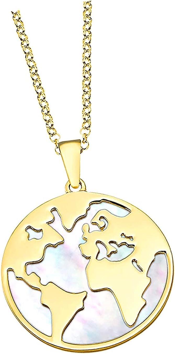 Lotus Silver LP1949-1/2 D3JLP1949-1-2 - Collar de plata de ley 925 con perlas de nácar para mujer