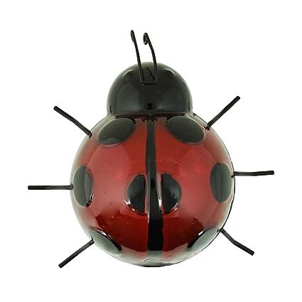 ASAB Figura decorativa de jardín de insectos de metal para colgar en la pared al aire