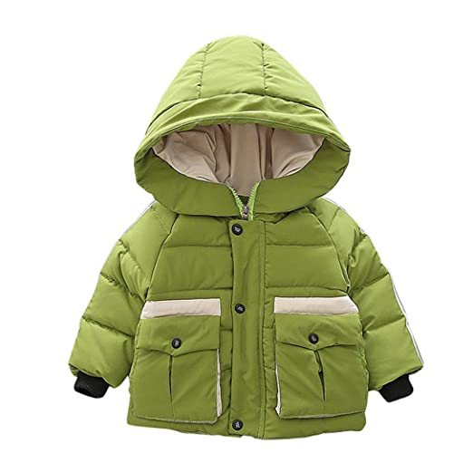 a8cea21d9 Amazon.com  Fullfun 2-6T Toddler Boys Winter Hooded Thick Warm Coat ...