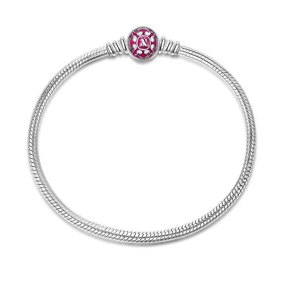 12 opinioni per NinaQueen Bracciale da donna argento sterling 925 per Charms Bead- Rose