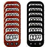 14 Pack Small Digital Kitchen Timer Magnetic Back And ON/OFF Switch,Minute Second Count Up Countdown