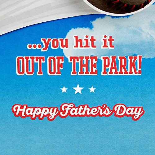 Hallmark Father's Day Greeting Card for Grandpa from Kids or Child (Peanuts Snoopy Baseball) Photo #6