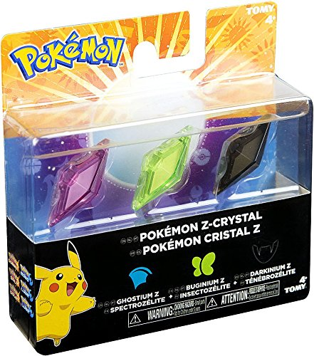 Pokemon Z-Ring Ghostium Z, Buginium Z & Darkinium Z Crystal 3-Pack (Arianna Crystal)