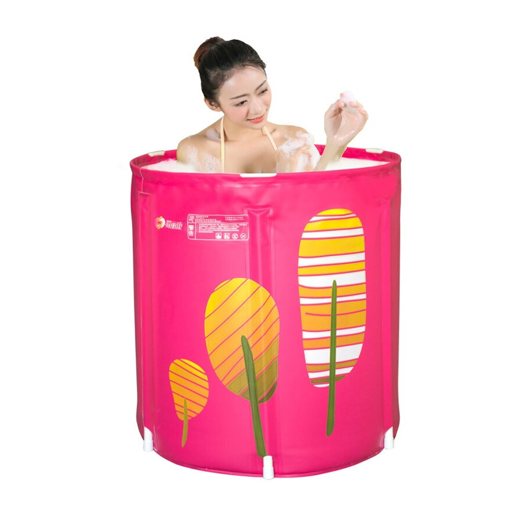 Inflatable Folding Plastic Bathtub Adult Infant Child Bath Barrel Without Cover Home Bathroom Supplies Built-in Cushion Wear/Dirty/Durable/Easy To Clean (6570cm, 7070cm) (Size : 6570cm)