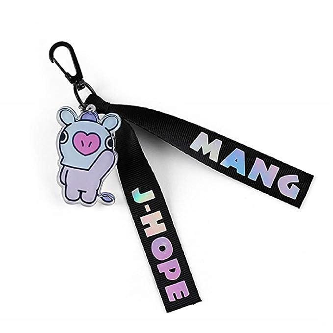 Vannie Llavero BTS-BT21 cadena de cordones de llavero de dibujos animados para mochila, teléfono móvil, bolsa, buenos regalos con diferentes colores ...