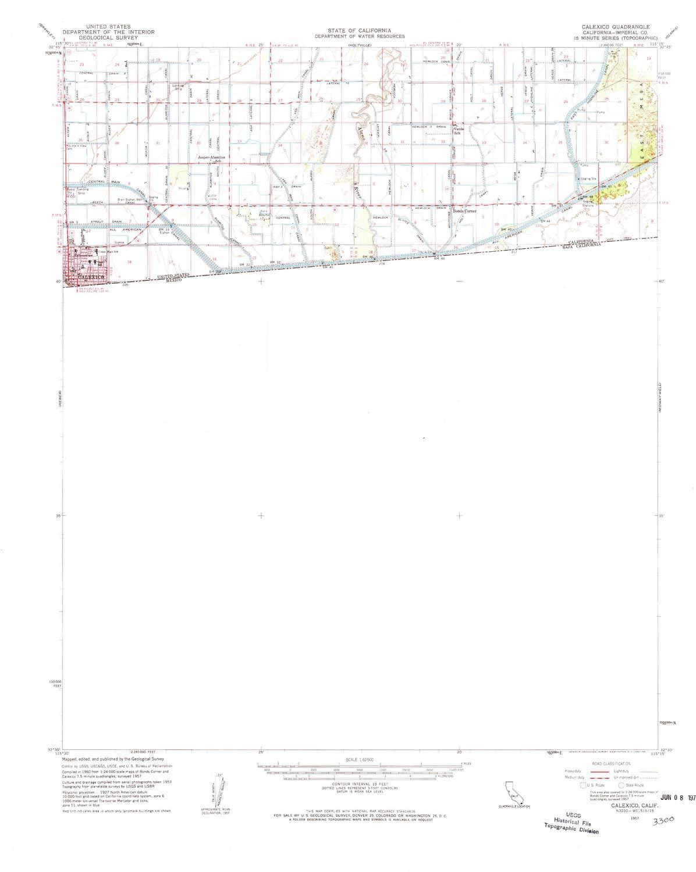 Amazon Com Yellowmaps Calexico Ca Topo Map 1 62500 Scale 15 X 15