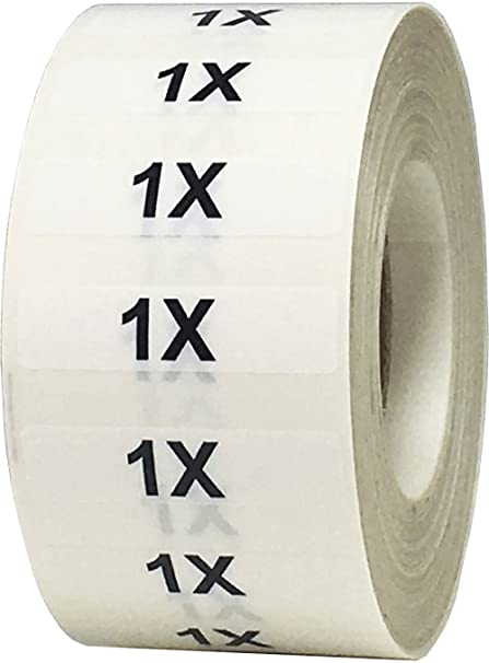 f2bca9718470 Amazon.com : 1X Clothing Labels Size Strip Stickers for Retail ...