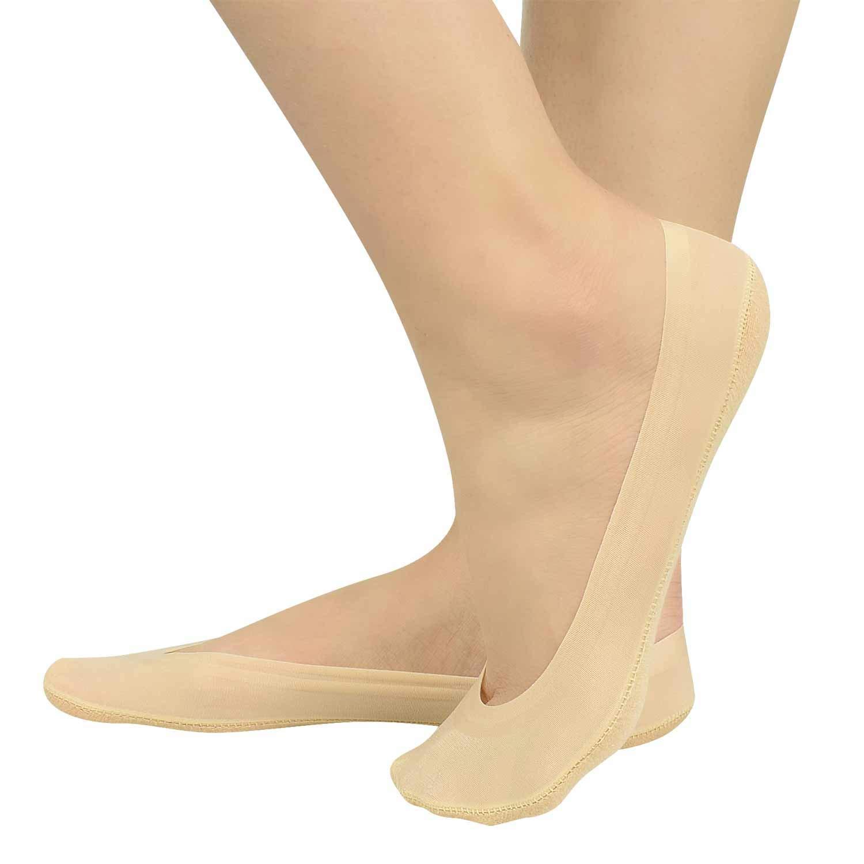 MODEOR 6 Pairs Non Slip Socks Invisible Women No Show Socks