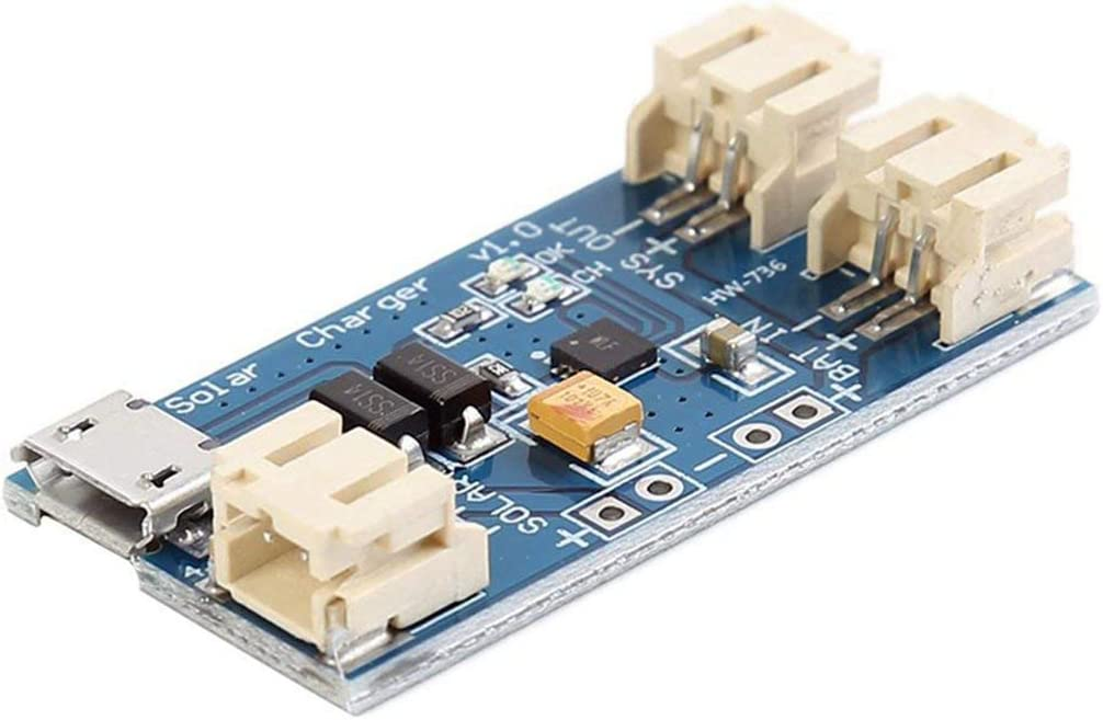 Azul ANR Mini bater/ía de Litio Solar Placa de Carga USB M/ódulo Cn3065 500Madc4.4-6V Cargador del indicador de Estado de la bater/ía