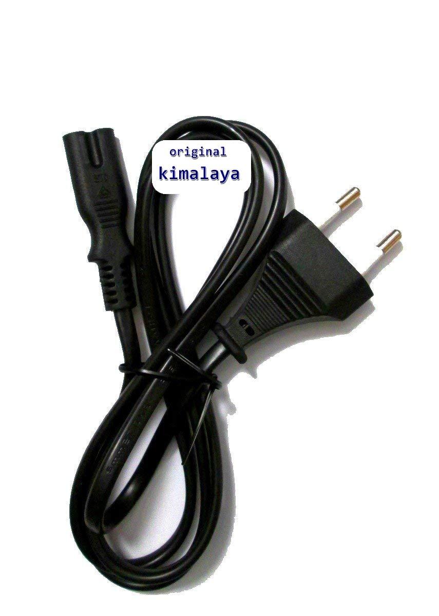 2 de Pol/Cable de alimentació n de 2 Pin Euro/Cable de alimentació n (Conector de Tipo C [CEE 7/16] a C8 [Doble Nut]) Adecuado para Radio, Fuentes de alimentació n, Receptor, etc, 1,8 m, Color Negro 8m kimalaya