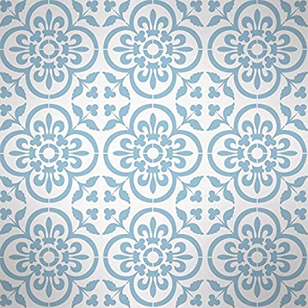 Basque Sol Carrelage Pochoir R/éutilisable D/écor Maison /& Loisirs Cr/éatifs Pochoir Murs Meubles Peinture Tuile Gabarit sur Sols M// 20X20CM