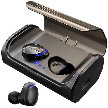 HolyHigh Auriculares Bluetooth 5.0 3000mAh CVC8.0 Cascos Bluetooth Inalámbricos IPX5 Impermeable con Micrófono y