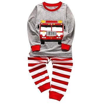 Amazon.com: 1-6T Kids Toddler Boys Stripe Pajamas Outfits Set Baby ...